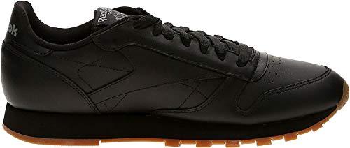 Reebok Classic Leather, Scarpe da Ginnastica Uomo, Nero (Black/Gum), 44