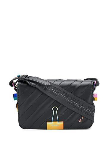 Luxury Fashion | Off-white Dames OWNA038R209900681000 Zwart Leer Schoudertassen | Lente-zomer 20