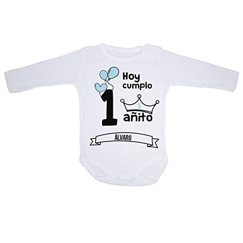 AR Regalos Body bebé primer cumpleaños (Niño) (Manga corta - 12 a 18 meses)