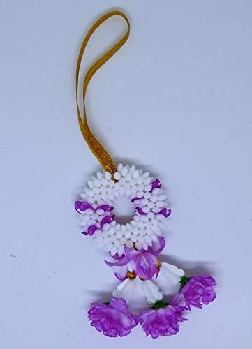 "FUSAP Thai Jasmine Garland Fabric Flowers Dia 2"" (Purple)"