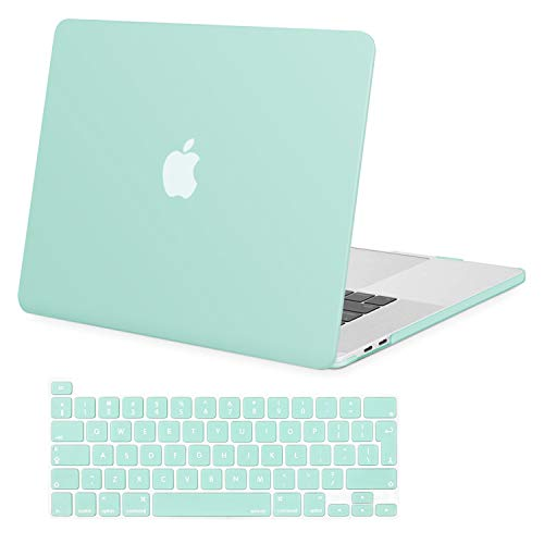 MOSISO MacBook Pro 16 inch Case 2020 2019 Release A2141 with Touch Bar & Touch ID, Ultra Slim Protective Plastic Hard Shell Case & Keyboard Cover Compatible with MacBook Pro 16 inch, Mint Green