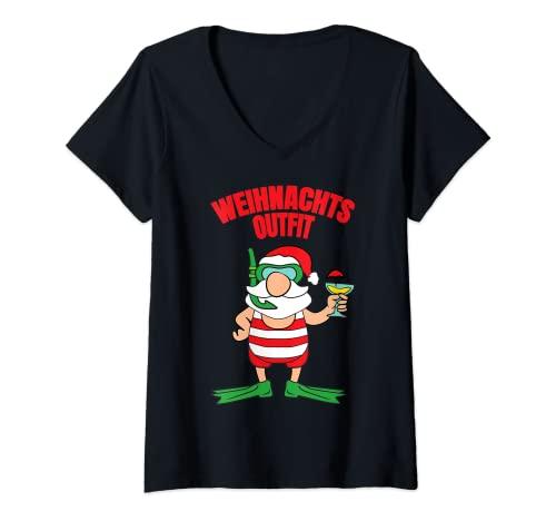 Damen Weihnachtsoutfit Weihnachtsmann...