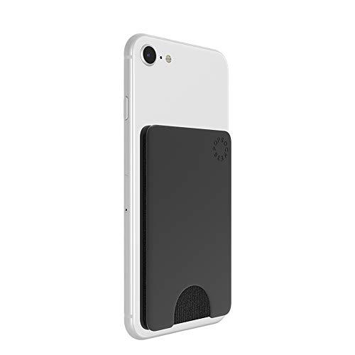 PopSockets PopWallet - Schlanker, Repositionierbar Kartenhalter für Smartphones - Black