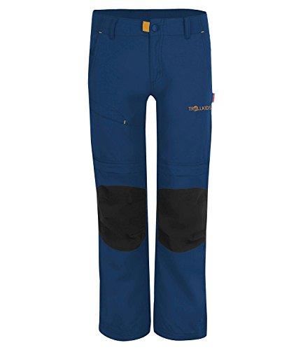 Trollkids Kinder Zipp-Off Trekking Hose Hammerfest XT, Marineblau, Größe 140