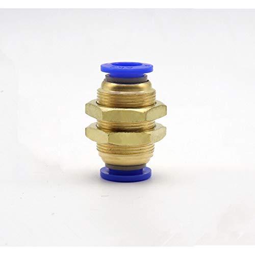 Pilang Zxxin-Accesorios de tuberia 10 mm 8 mm 4 mm 6 mm 12 mm OD latón rápida conexión de la Manguera del Tubo de una pulsación táctil en Gas Conector, Aire neumática Recta de unión pasante