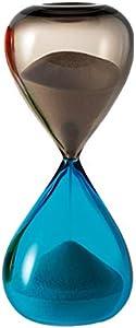 VENINI Clessidra - Reloj de arena Talpa/Acquamare (Venezia, Italia, soplado artesanalmente)
