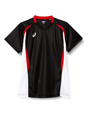 [アシックス] バレーボールウエア 半袖ゲームシャツ XW1325 メンズ ブラック/ホワイト 日本 M (日本サイズM相当)