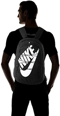 Nike Hayward 2.0 Backpack, Nike Backpack for Women and Men with Polyester Shell & Adjustable Straps, Black/Black/White