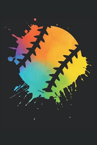 Baseball Notizbuch (liniert) Regenbogen Baseballer