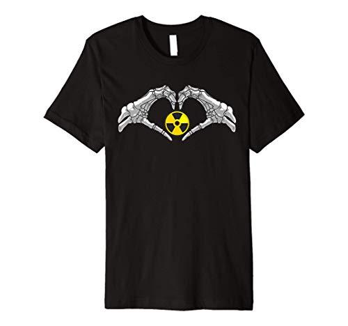 Funny Radioactive Gift For Men Cool Nuclear Biohazard Logo Premium T-Shirt