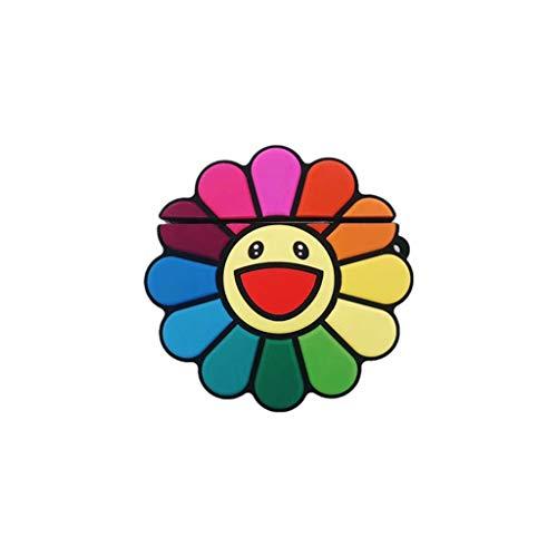 Junlinto, Mode Leuke Kleurrijke Bloemen Zachte Siliconen Beschermende Cover Schokbestendige Case Huid Met Lanyard voor Airpods 1/2 Opladen Doos