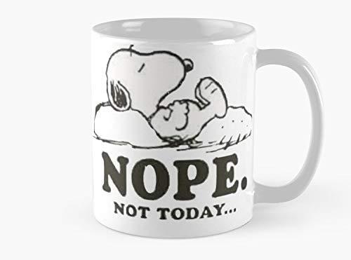 Lplpol Snoopy – Nope Not Today Kaffee-/Teetasse – 325 ml Premium-Qualität bedruckte Kaffee-Teetasse – Einzigartige Geschenkidee für Freund/Kollegen/Lieben