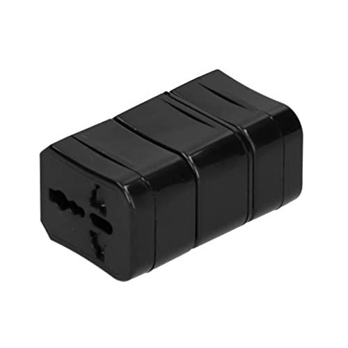Adaptador de Viaje UK / EU / US / AU / CN 3PCS, Comúnmente Utilizado en Más de 220 Países de Todo el Mundo con Puertos de Carga USB Duales(Negro)