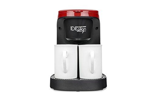 ID Italian IDECUCOF02 macchina per caffè Libera installazione Nero, Rosso 0,24 L 2 tazze Semi-automatica