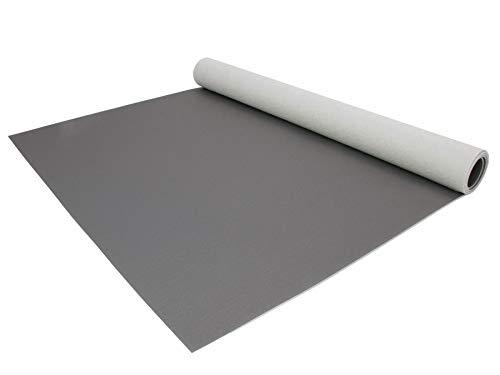 PVC Bodenbelag EXPOTOP Profi Vinylboden - 2,00m x 1,00m, Uni Grau PVC Boden Meterware Vinyl, Reflektiert Nicht, Einfarbig, Schwer Entflammbar