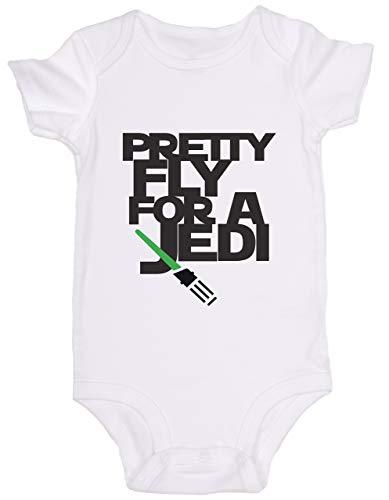 Promini Combinaison bébé mignon – Pretty Fly for A Jedi Star Wars – Body bébé mignon en une seule pièce – Cadeau idéal pour bébé - Blanc - 12 mois