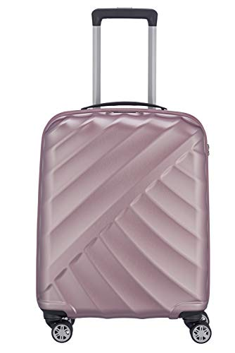 "TITAN ""SHOOTING STAR"" von TITAN®: Robuste Hartschalen-Trolleys in coolem Metallic-Look in 4 Trendfarben Koffer, 55 cm, 40L, Rose"