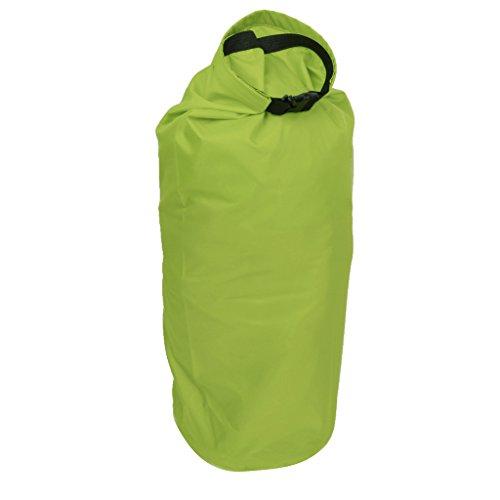 Sac Etanche Poche de Compression Léger pour Camping Kayak Rafting Canoë (Vert-Jaune, 15L)