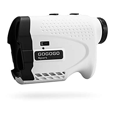 Gogogo Laser Rangefinder for Golf & Hunting Range Finder Gift Distance Measuring with High-Precision Flag Pole Locking Vibration Function?Slope Mode Continuous Scan (650Y with slop Switch)