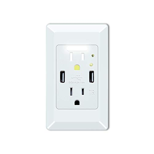 GREENCYCLE High Speed USB Charger Wall Outlet,15-Amp Duple...