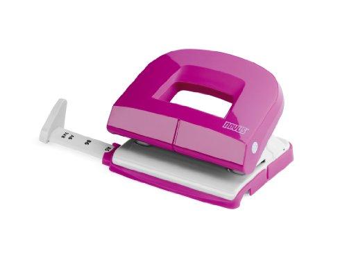 Novus E 216 Bürolocher (Kunststoff/Metall) für 16 Blatt, pink