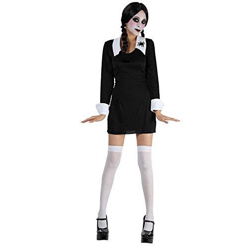 B-Creative Disfraz de miércoles Addams para niña de la escuela