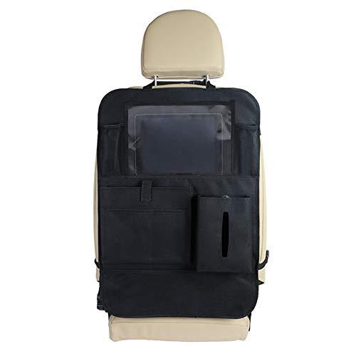 Los asientos del coche Organizador Paquete de 2 organizador de asiento de coche Protector de asiento trasero de retroceso automático for niños con bolsillo de almacenamiento múltiple for soporte de ta