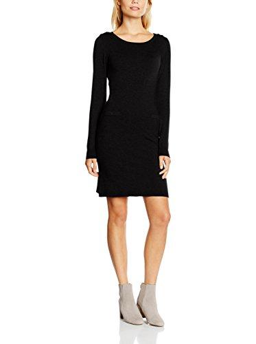 William De Faye Vestido Punto Bateaux Epaule Boutons Negro XL