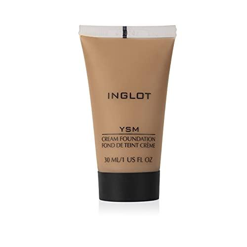 Inglot YSM Creme Foundation flüssiges Make-Up, Foundation, die sich dem Hautton anpasst, Für ein natürliches und mattes Aussehen, 30 ml : 50