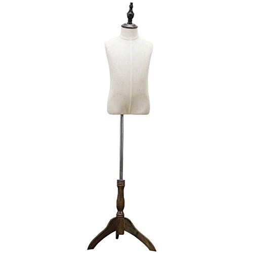 Maniquíes de costura Ropa de niños de los niños maniquíes maniquí de la exhibición Soporte de Medio Cuerpo Modelo Niño maniquí sastres Adjustable (Size : Large)