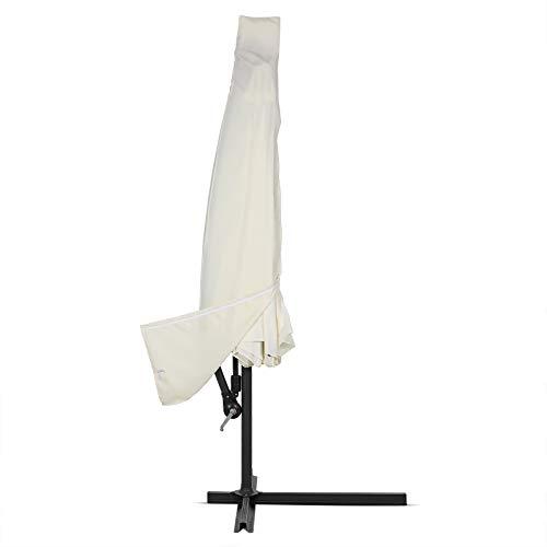 Deuba Schutzhülle Sonnenschirm für 3,5m Schirme Schirm Abdeckhaube Abdeckung Hülle Plane Ampelschirm Beige