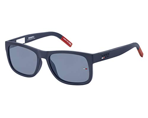 Tommy Hilfiger tj 0001/s, Gafas de Sol Unisex Adulto, Matte Blue, 52