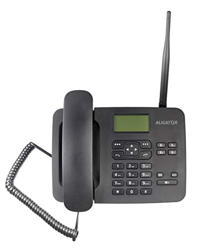Aligator T100 GSM Mobiltelefon im klassischen Tischtelefon Style (Schwarz)