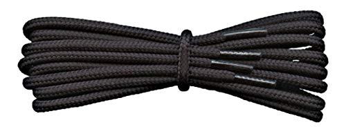 Fabmania Cordones Fuertes - Negro - 4 mm redondos - ideales para botas de trabajo y botas de montaña Dr Martens - Longitudes de 90 a 240 cm - Hecho en Inglaterra