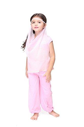 Bigood Costumes Déguisement Cosplay Inde Princesse Magique Enfant Fille pour Halloween L
