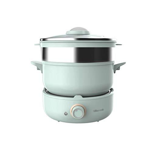 XJJZS Hot Pot eléctrico multifunción vaporera eléctrica Pot residencia de Estudiantes Pot...