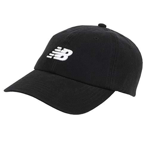 New Balance Kids 6-Panel Curved Brim Classic Hat, Black, One Size