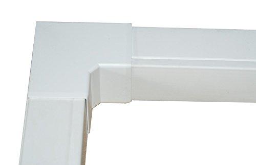 Kabelkanal Ecke Innen für 100x60mm weiss Ecke für Brüstungskanal Verdrahtungskanal Zubehör Ecke-Innen