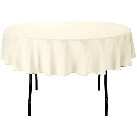 """Avery Stripe Round Fabric Tablecloth 70"""" Poly//cotton Mix Easy Care Nee"""