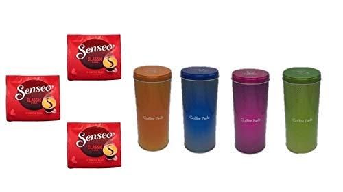 Senseo Kaffeepads Klassisch / Classic, Intensiver & Vollmundiger Geschmack, Kaffee, 3er Pack, 3 x 16 Pads Orange blau pink grün