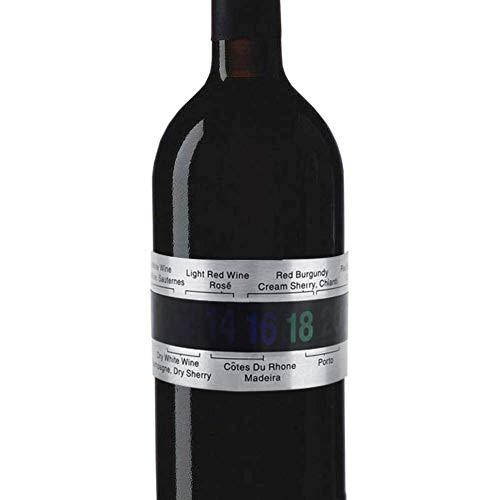 Acero Vino LCD Termómetro Botella Cerveza Rojo Vinos Pulsera Sensor de Temperatura clip, pantalla digital, Inoxidable