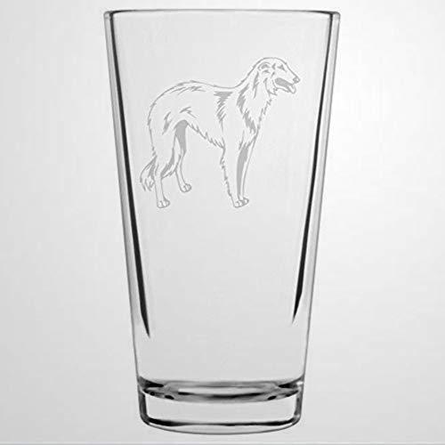 Borzoi - Copa de vino con diseño de perro sin tallo, grabada con láser, para whisky, idea única de novedad para él, ella, mamá, esposa, jefe, hermana, 473 ml