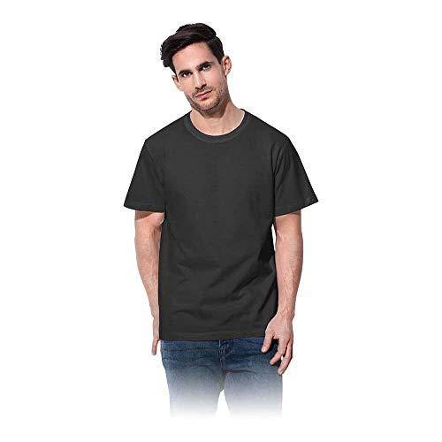 Stedman Apparel - T-Shirt - Col Chemise Classique - Manches Courtes Homme - Noir - X-Large