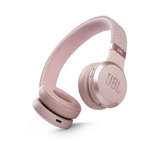 JBL LIVE 460NC - Cuffie On-Ear Wireless Bluetooth con Cancellazione Adattiva del Rumore, Cuffia Pieghevole Senza Fili per Musica, Chiamate e Sport, Fino a 50h di Autonomia, Colore Rosa