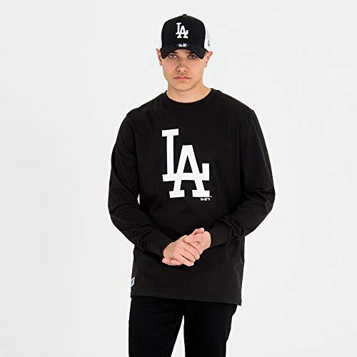 New Era MLB LOS Angeles Dodgers Team Apparel Long Sleeve Sweatshirt, Black, S
