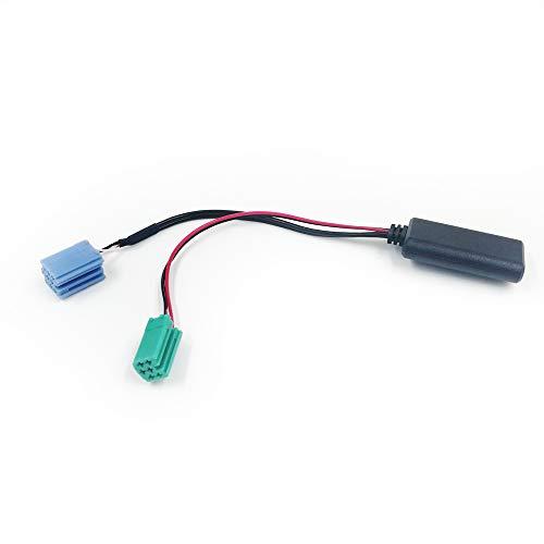 LIULIANG MeiKeL Radio de automóvil Blue Blue Mini ISO 6PIN 8PIN Conector Bluetooth 5.0 AUX Cable Adaptador Ajuste para Renault Radio UpdateList (Color Name : 6pin 8pin)