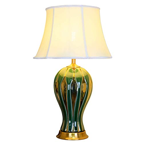 AI LI WEI mooie lampen/lamp van keramiek antiek Amerikaans, villa, woonkamer, Chinese slaapkamer, nachtlampje, alle flessenlampen van porselein in warm koper (kleur: B) Oro rosa + oro rosa