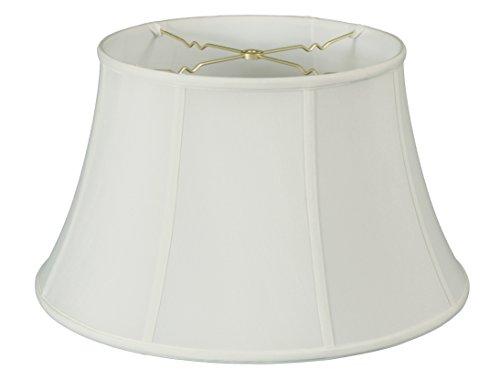 Royal Designs Billiotte Lampenschirm, flach, Trommelglocke, Weiß, 8 x 12,5 x 7,6 cm