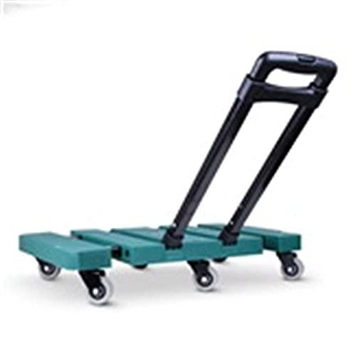 hyywmgx Carrello per Uso Domestico Pieghevole Portatile Carrello Silenzioso Carrello per Auto Carrello da Giardino in Gomma Rimorchio per Uso Domestico a Due Ruote Carico Retrattile 200 kg