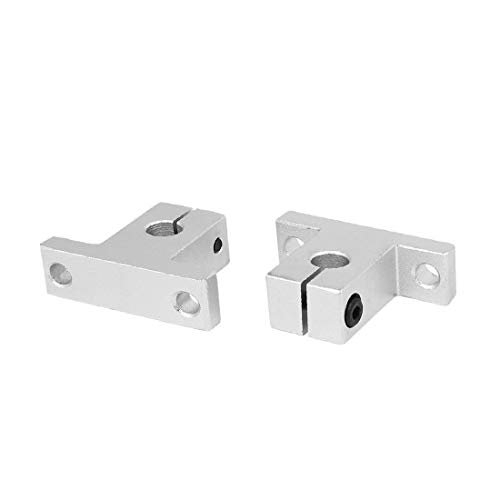 New Lon0167 SK8 8mm Featured Shaft Inner Diameter Reliable Efficacy Rail Linear Motion Guide Support Silver Tone 2pcs(id:27b a7 96 ee0)